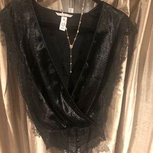 Victoria's Secret satin lace bodysuit! Worn once.